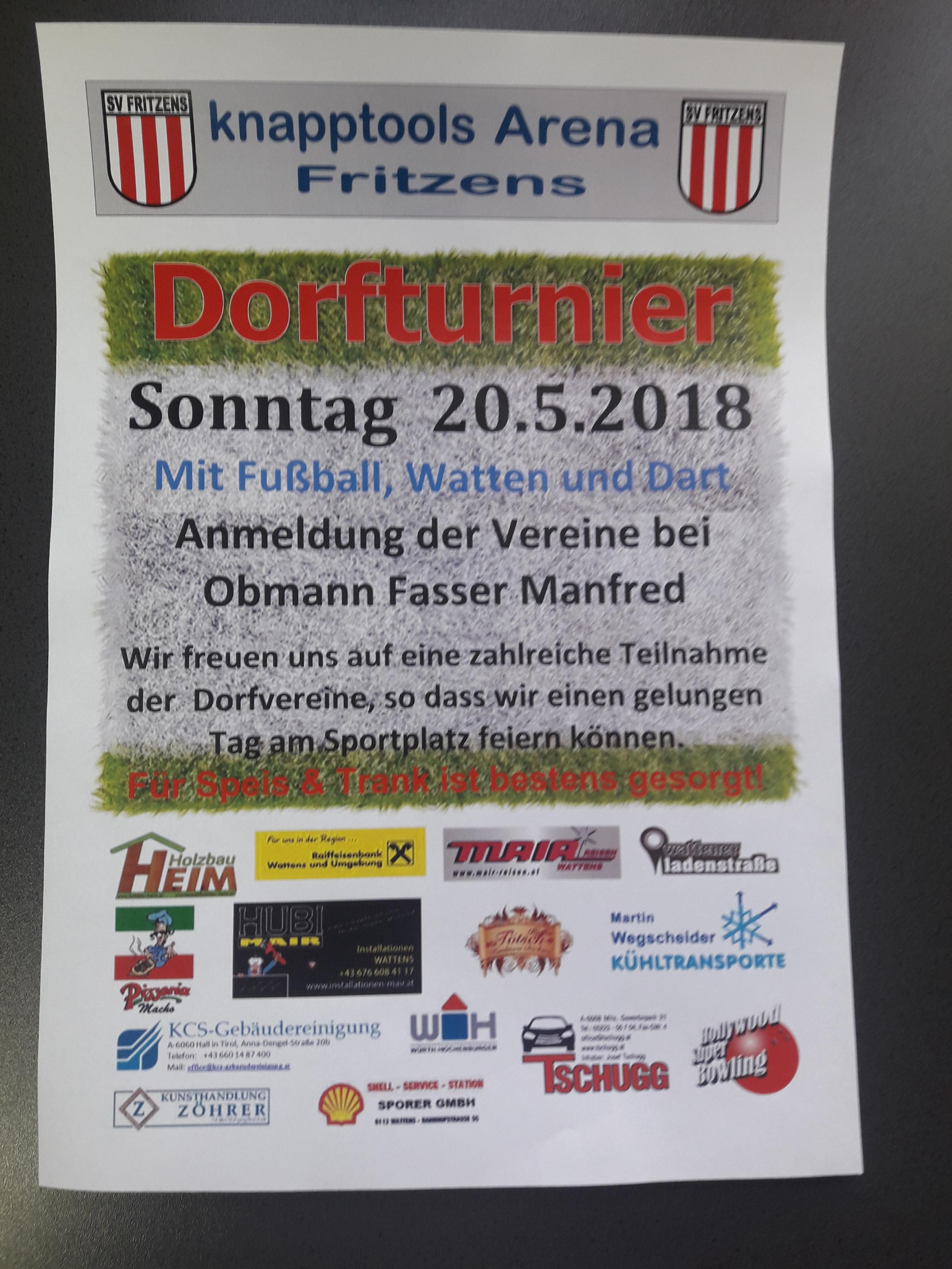 Dorfturnier Plakat 2018